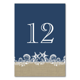 Sea Garland Navy Blue Beach Theme Card