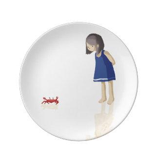 Sea girl porcelain plate