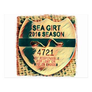 Sea Girt Beach Badge Postcard