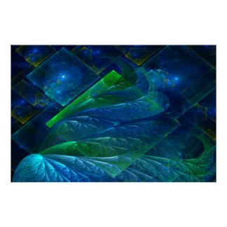 Sea Glass 3D Abstract Poster