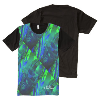 Sea Glass abstract t-shirt green, blue All-Over Print T-Shirt