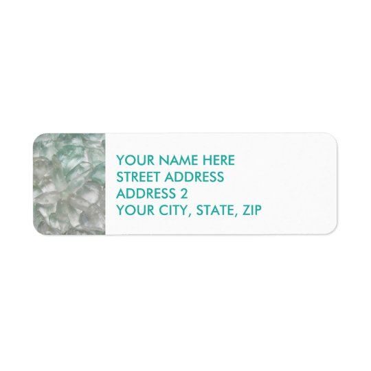 Sea Glass and Starfish Four-Line Address Labels