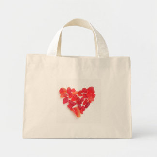 Sea glass bag! Heart shape sea glass on a bag... Mini Tote Bag