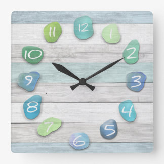 Sea Glass Beach Driftwood Ocean Clock