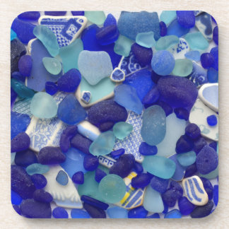 Sea glass, beach glass, blue aqua photo coasters