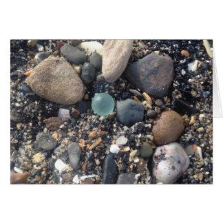Sea glass card! Scottish beach marble as found Card