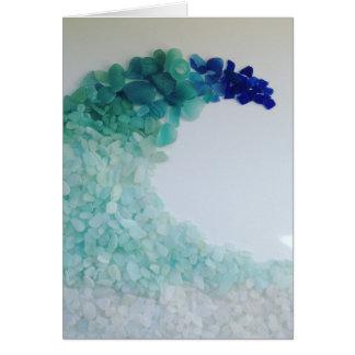 Sea glass card! Wave of Scottish sea glass... Card