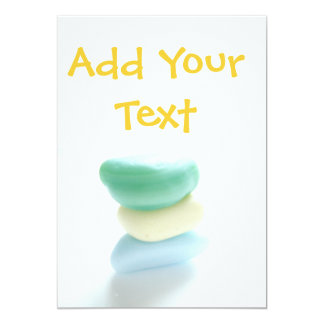 Sea Glass Cards - add your own text 13 Cm X 18 Cm Invitation Card