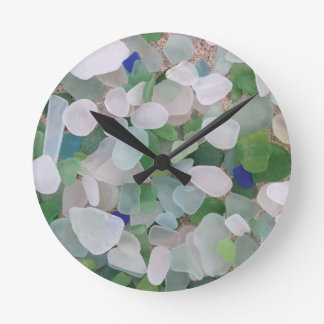 Sea glass from the ocean wallclocks