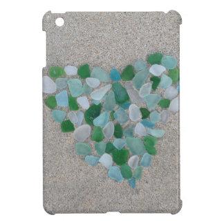 Sea glass heart case for the iPad mini