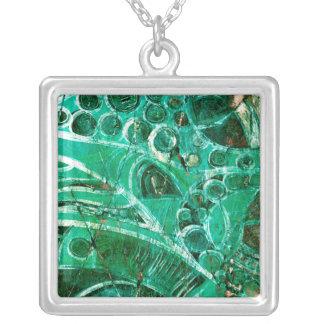 Sea Glass I Square Pendant Necklace