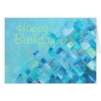 Sea Glass Impressions Birthday Card