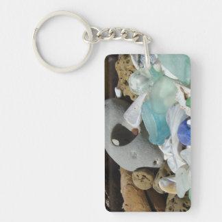 Sea Glass Key Chain custom Beach Coastal
