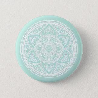 Sea Glass Mandala 6 Cm Round Badge