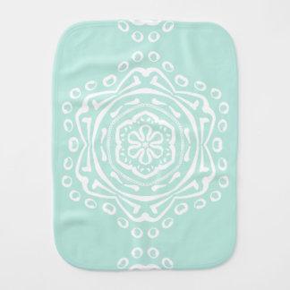 Sea Glass Mandala Burp Cloth