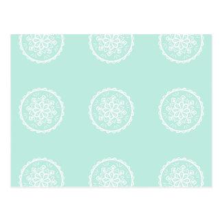 Sea Glass Mandala Postcard