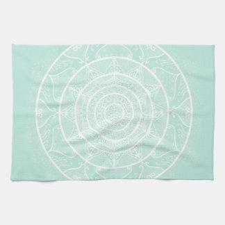Sea Glass Mandala Tea Towel