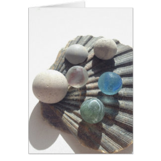 Sea glass marble greeting card! My first marble... Card