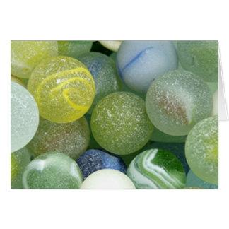 Sea Glass Marbles Card