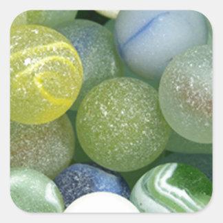 Sea Glass Marbles Square Sticker