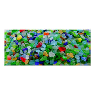 Sea Glass Mural Poster