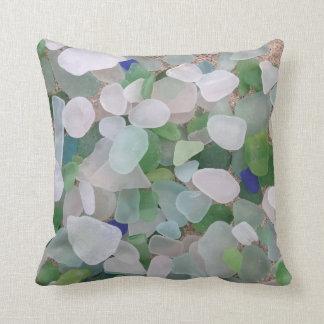 Sea glass pillow