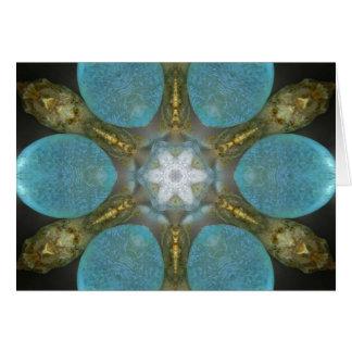 Sea Glass Spa Mandala Card