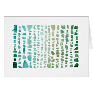 Sea Glass Spectrum: Aquamarine to Emerald notecard