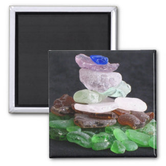 Sea Glass Square Magnet