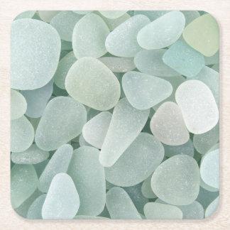 Sea Glass Square Paper Coaster