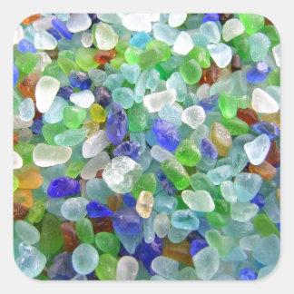 Sea Glass Square Sticker