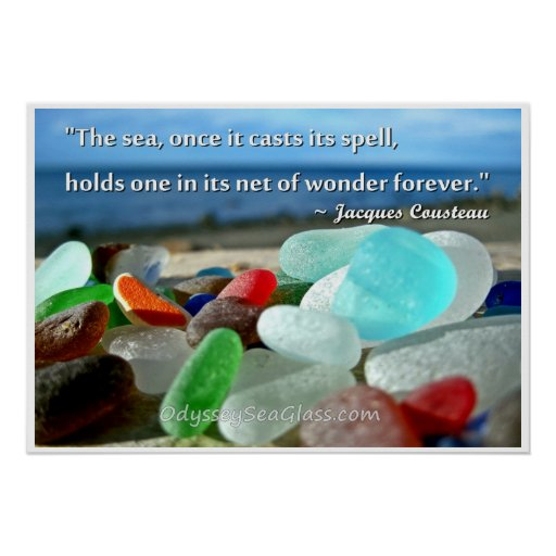 Sea Glass - The Sea Casts It's Spell Print
