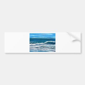 Sea Glory Beach Art Decor Surf Ocean Waves Bumper Stickers