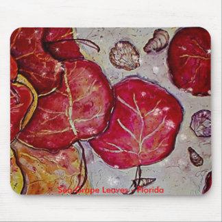 Sea Grape Leaves - Florida Mouse Pad