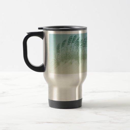Sea Grass on the Beach Stainless Mug
