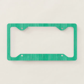 Sea Green Bamboo Wood Grain Look Licence Plate Frame
