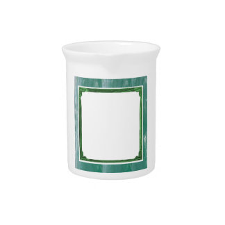 Sea Green Border Image / Text Holder Pitcher