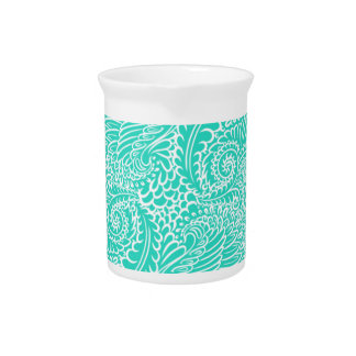 Sea Green Floral twists Pitcher