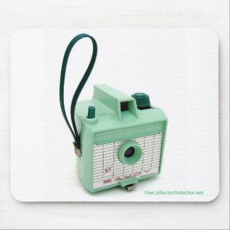 Sea Green Imperial Savoy Vintage Camera Mousepad