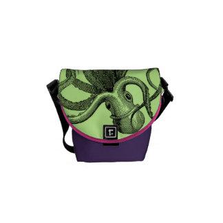 Sea Green Octopus Mini Messenger Bag