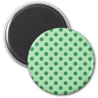Sea Green Polka Dots 6 Cm Round Magnet