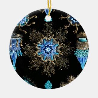 Sea Green Siphonophorae Ceramic Ornament