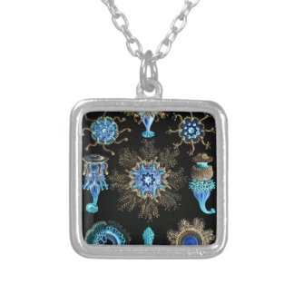 Sea Green Siphonophorae Silver Plated Necklace