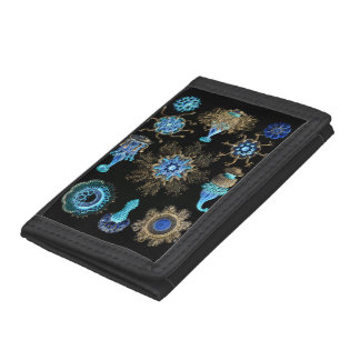 Sea Green Siphonophorae Trifold Wallets