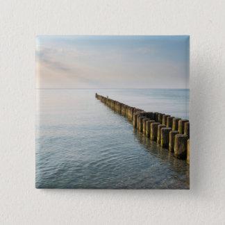 Sea Groynes 15 Cm Square Badge