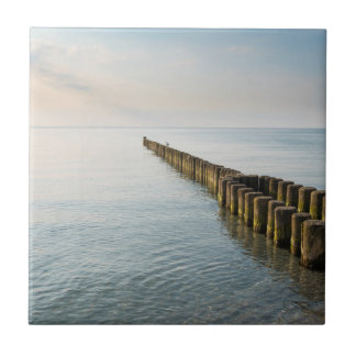 Sea Groynes Ceramic Tile