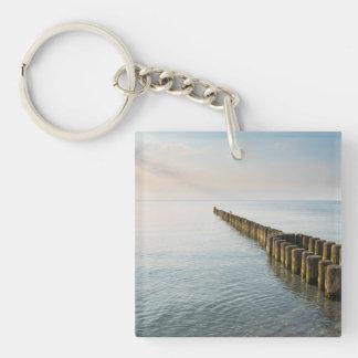 Sea Groynes Key Ring