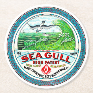 Sea Gull High Patent Flour Round Paper Coaster