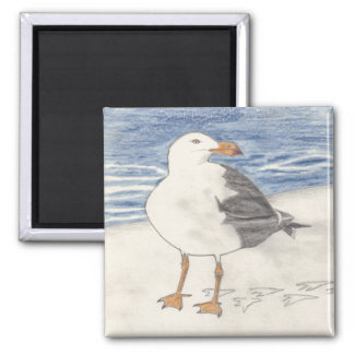 SEA GULL magnet (square)