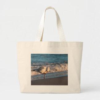 Sea gull on shore of the Baltic Sea Tote Bag
